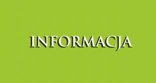 zielone tło z napisem informacja
