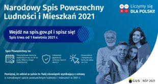 plakat reklamujący NSP2021